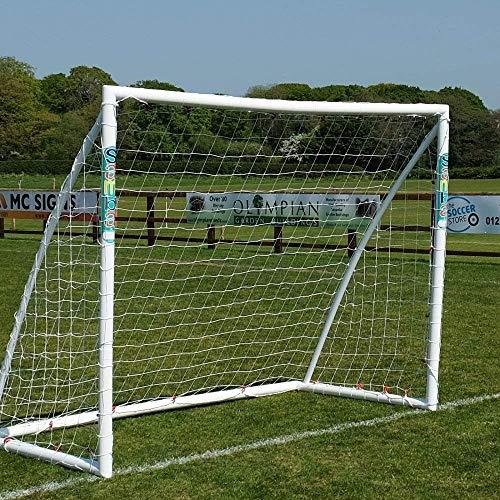 Samba Fußballtor 2,4 x 1,8m / 2,4 x 1,2m / 1,8 x 1,2m · Wetterfestes Fussballtor für Kinder Plus gratis Zielscheibe · neuartiges Einrastsystem · 1 Fussballtor Garten (2,4 x 1,8m Fußballtor)