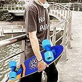 Baytter 22 Zoll Skateboard Komplett Board Mini-Cruiser aus 7-lagigem Ahornholz 57 x 15cm für Kinder, Jugendliche und Erwachsene - 7