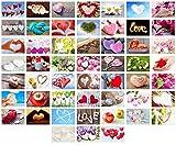 Set 52 Postkarten zur Hochzeit - Hochzeitsspiel: eine Postkarte jede Woche - Hochzeitsgeschenk - Liebe + Herzen - Postcrossing – Dekoidee – Geschenk - Gästebuch - Geburtstag