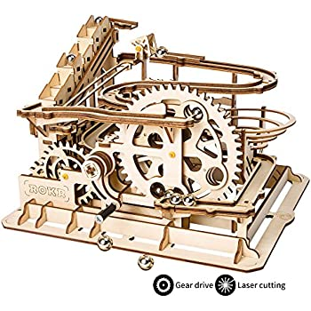 ROKR Hand Cranked Marble Run Wooden Model Kits Assembly 3D