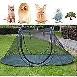 Wurfzelt für Haustiere, Laufkäfig für Hunde, Katzen, Vögel, Papageien, Schildkröten, Reptilien, Freigehege für Kleintiere, zum Spielen, für den Innen- und Außenbereich
