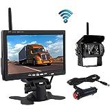 """Drahtlose Rückfahrkamera, Podofo 7 """"HD TFT LCD Rückansicht Monitor +Wasserdichte Rückfahrkamera Für LKW RV"""