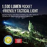 Olight® M2R Warrior LED Taschenlampe taktisch - mit XHP35 HD CW LED, 18650 3500mAh Akku und MCC USB-Magnetladekabel - Max.1500 Lumen - Kaltweiß - 4