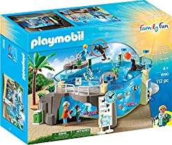 Playmobil 9060 Family Fun Aquarium with Fillable Water Enclosure, Multi-Colour
