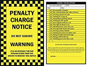 free fake parking ticket template - 6 x prank parking tickets toys games