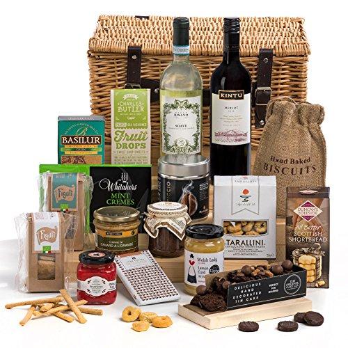 Hay Hampers Indulgence Non-Perishable Christmas Food and Wine Hamper Basket