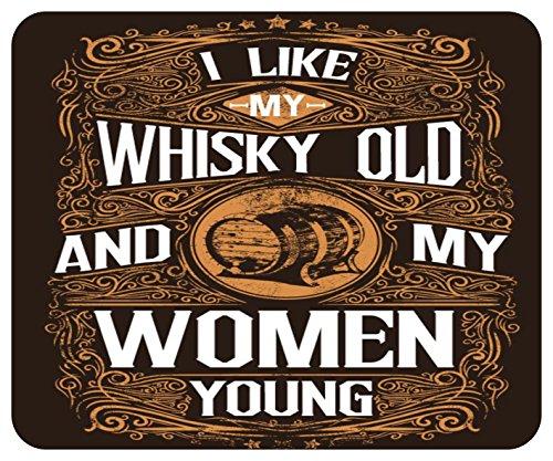 Preisvergleich Produktbild Mousepad bedruckt mit I Like My Whisky Old