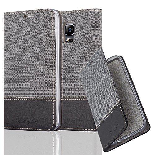 Cadorabo Funda Libro para Samsung Galaxy Note Edge en Gris Negro – Cubierta Proteccíon con Cierre Magnético, Tarjetero y Función de Suporte – Etui Case Cover Carcasa