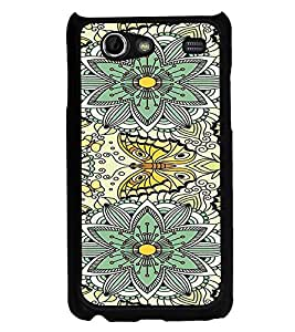 ifasho Animated Pattern colrful flower and butterfly Back Case Cover for Samsung Galaxy S Advance i9070