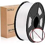 PLA Filament 1.75mm, SUNLU PLA plus Filament for 3D Printer, Dimensional Accuracy +/- 0.02 mm, PLA+ White 1KG