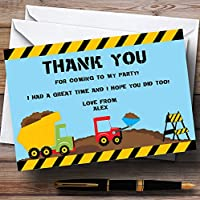Jcb Digger Construction Building Personalised Birthday Party Thank You Cards