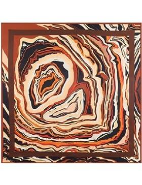 Lady's patrón decorativo 100% seda de morera diagonal 90cm*90cm cuadrado bufanda