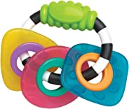 Playgro Teething And Grip Ring Trio, Multicoloured