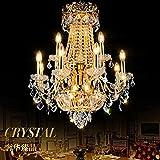 BBSLT IL Salotto di lampadari di Cristallo d'Oro europeo lampadario con Attico di Ville di lusso di rotazione lungo le scale.