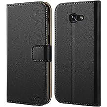 Galaxy A5 2017 Hülle, HOOMIL Handyhülle Samsung Galaxy A5 (2017) Tasche Leder Flip Case Brieftasche Etui Schutzhülle für Samsung A5 2017 Cover - Schwarz (H3034)