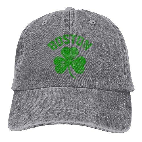 Hoswee Unisex Kappe/Baseballkappe, Boston Green Denim Hat Adjustable Men Cute Baseball Cap - Baseball-cap Boston Kleinkind