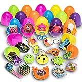 30 Huevos de Pascua Prextex de Juguete Rellenos de Mini Juguetes y Recuerdos
