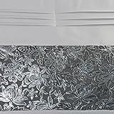 Tagesdecke Bettüberwurf Steppdecke 220x240 Kissenbezüge 45x45 60x60 Flitter Set kombinieren (LENI Silber Decke)