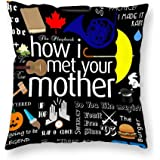 VinMea Decorative Pillow Cover How I Met Your Mother Throw Pillow Case Cushion Cover Home Office Decor, 18 X 18 Inches