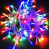 Girlanden Lichterkette wasserdicht Kupfer Draht 10m 100LEDs wie etoilées LED Lichter für Weihnachten Hochzeit Dekoration Outdoor und Innen Laden über USB Batterie Multicolore