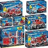 PLAYMOBIL 9462 bis 68 Feuerwehr Set 1 - 7er Set, 9462 - 9468