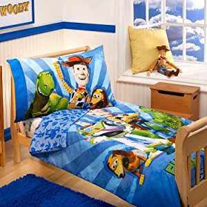 disney parure de lit pour enfant 4 pi ces buzz woody et le gang b b s pu riculture. Black Bedroom Furniture Sets. Home Design Ideas