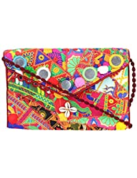 Rajasthani Jaipuri Bohemian Art Sling Bag Foldover Purse