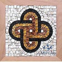 Mosaico fai da te Nodo di Salomone 23x23 cm - tessere per mosaici in marmo - Idea Regalo Anniversario/Compleanno - Nodo d'amore - Kit kit hobby creativi