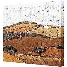 Cuadro pintura de Paisaje moderno con texturas sobre lienzo, medidas 50x50cm