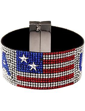 Herren Sterne Brand USA Hot Bohren Armband Hand Gürtel mit Voll Strass Hip Hop Schmuck für Geschenk