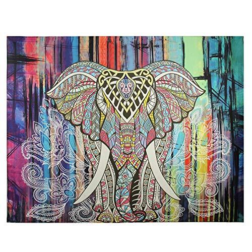 Tapiz de elefantes Colgante de pared Hippie Playa bohemia Mantón solar Bufanda...