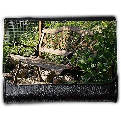 Cartera unisex // M00290833 Garden Bench legno Sedile Banca Riposo // Medium Size Wallet