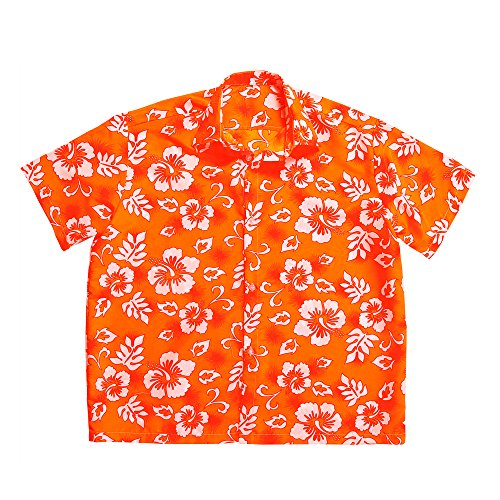PARTY DISCOUNT Neu Herren-Kostüm Hawaiihemd, Orange, -
