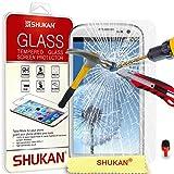 Samsung Galaxy S3 Tempéré Verre Cristal Clair LCD Écran Protecteur Gardien & Polissage Tissu + ROUGE 2 DANS 1 Poussière Bouchon SVL2 PAR SHUKAN®, (TEMPÉRÉ VERRE)