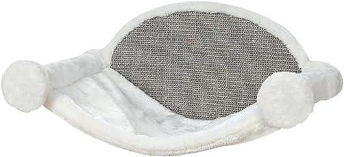 Trixie Hängematte zur Wandmontage, 54 × 28 × 33 cm, weiß/grau