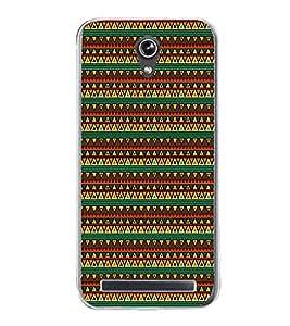 Colourful Pattern 2D Hard Polycarbonate Designer Back Case Cover for Asus Zenfone Go ZC500TG (5 Inches)