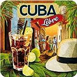 5 Untersetzer - 9 x 9 cm - Cuba Libre