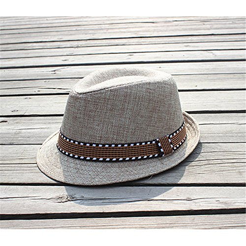 Interesting® Elegante Kinder Jungen Mädchen Unisex Fedora Jazz Plaid Ribbon Baby Kinder Cap Sun Hat (Fedora Sitz)