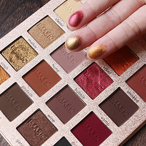 3. Hometom Matte Shimmer Eyeshadow Palette