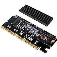 NVME Adapter PCIe x16 mit Kühlkörper, 6amLifestyle M.2 NVME oder AHCI SSD auf PCIE 3.0 Adapterkarte für Key M 2230, 2242…