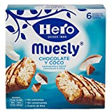 Hero Barrette ai Cereali Muesli Cioccolato - Cocco - 5 Confezioni da 6 x 25g
