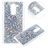 Coque pour Huawei Honor 6X,Paillette Coque pour Huawei Honor 6X,Surakey Bling Brillant Cristal Glitter Diamant strass Coque Silicone Étui Ultra Mince Housse pour Huawei Honor 6X Coque de Protection en TPU avec Absorption de Choc Bumper et Anti-Scratch Etui Premium Semi Hybrid Crystal Clear Flex Soft Skin Souple Coque Etui en Silicone Téléphone Couverture TPU Cover Coque Housse Étui pour Huawei Honor 6X - Argent