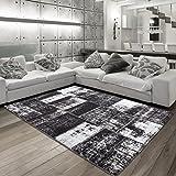 Alfombra Carpet Collection Salón/Comedor/dormitorio Riva 3240(160x 230), color negro/marrón, polipropileno, negro, 120 x 170 cm