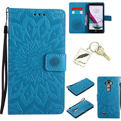 Preisvergleich Produktbild Silikonsoftshell PU Hülle für LG G4 (5,5 Zoll ) Tasche Schutz Hülle Case Cover Etui Strass Schutz schutzhülle Bumper Schale Silicone case+Exquisite key chain X1#AD (8)