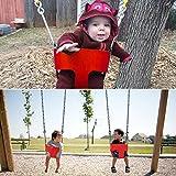 Acecoree Babyschaukel Babysitz Toys Outdoor Play Kinder Hohe Zurück Volle Eimer Schaukelsitz Mit Beschichteter Kette Gartenschaukel für Baby und Kinder