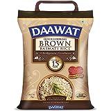 Daawat Brown, Cooks in 15-Minute, Full Bran Intact, Fibre-Rich Basmati Rice, 5 Kg