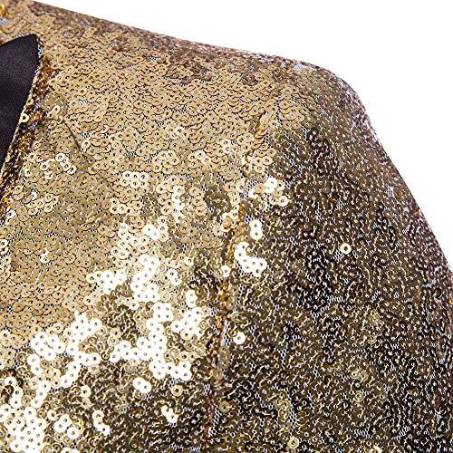 Longra-Uomo Giacca Elegante Vestito da Uomo Slim Fit Cappotto Giacca Blazer  in Paillettes Uomo Giacca Costume Festivo Vestito da Festa Top Outwear Oro  Rosso ... f0c1e5fe963