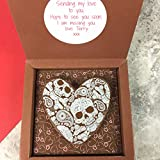 Chocolate Heart Gift with Chocolate Hearts & Skulls