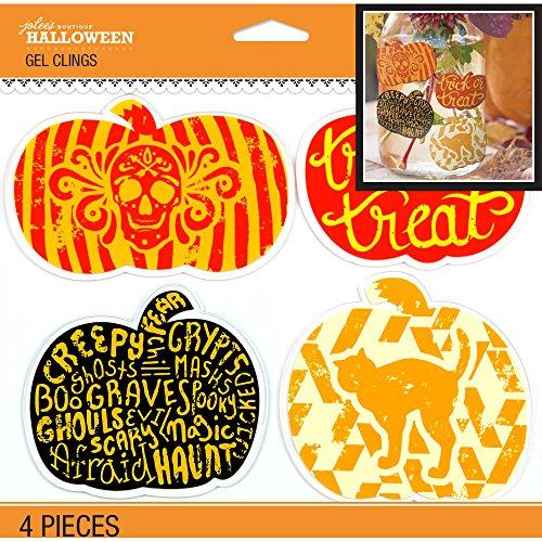 Jolee's Halloween Gel Clings 4/Pkg-Pumpkins