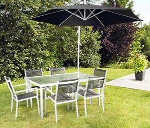 PRO JARDIN - Ensemble repas avec parasol PARMA - Ensemble repas avec parasol PARMA